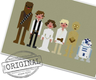 Star wars x stitch from wee Little Stitches on Etsy
